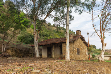 Unusual Turkey country concept by eyes of traveler. Old abandoned house. Horizontal color photography.
