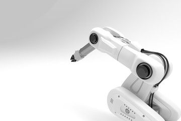 3d white arm robot