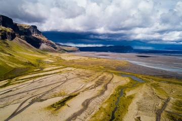 Jokulsarlon glacier surroundings, Iceland landscapes