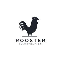 Rooster arrow Logo Template Design Vector, Emblem, Design Concept, Creative Symbol, Icon illustration