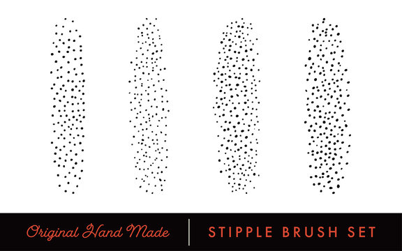 Stipple Brush Set for Texturing and Shadow (Light)