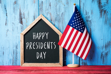 american flag and text happy presidents day