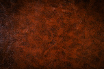 Vintage or old style of brown leather texture use as a background