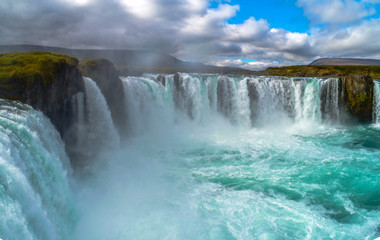 Wall Murals Waterfalls Godafoss , Icelandic waterfall. located on the North of the island