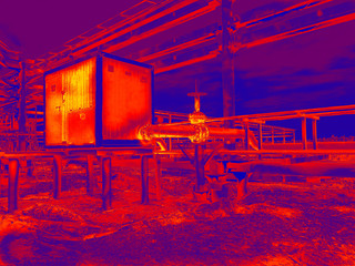 Thermal point thermography image
