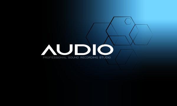 DJ Dance Party Logo, Recording Studio Emblem Audio Concept