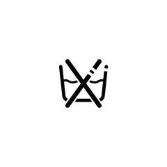 No wash with water vector icon