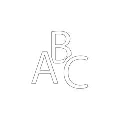 abc. flat vector icon