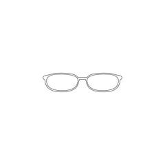 Glasses. flat vector icon