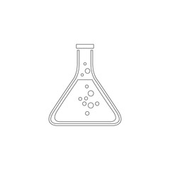 Erlenmeyer Flask. flat vector icon