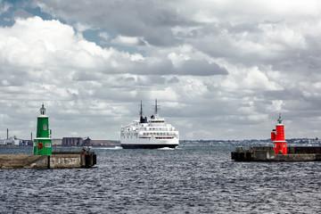 Ferry to Helsingor Elsinore in Denmark