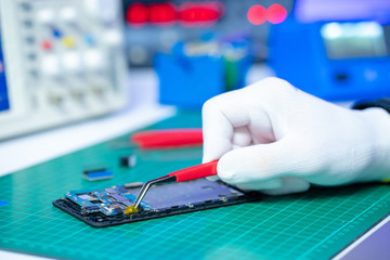 Fix of mobile phone in lab