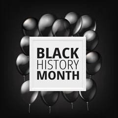 Black History Month concept with balloons. Vector illustration