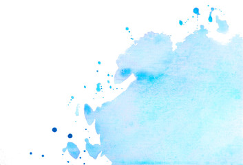Hand painted backgrounds with cracks isolated on white. Watercolor background. Watercolor background - spot with blots. Trendy backgrounds for designers
