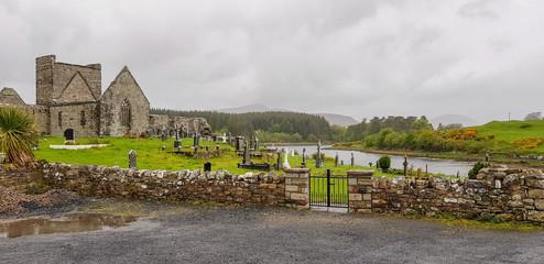 church ruin and graveyard