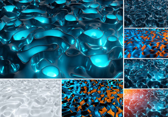 6 Abstract Liquid Texture Backgrounds