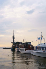 Abendstimmung im Hafen von Nida