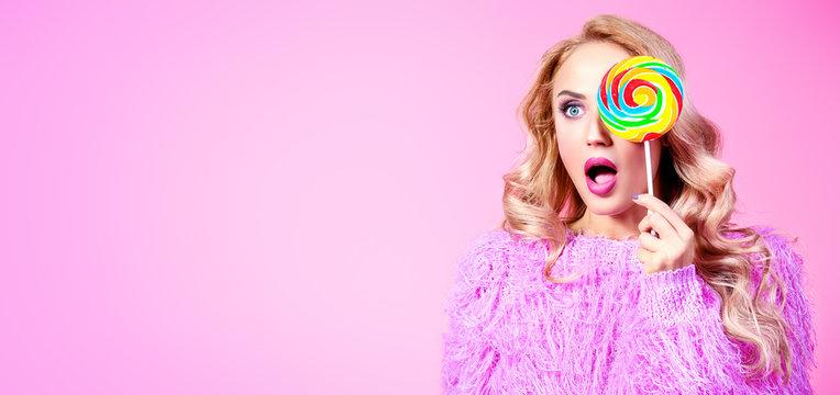 lady with lollipop