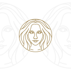 Artistic Beauty woman logo design