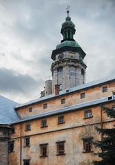 Bell tower of Bernardine Church in Lviv, Ukraine