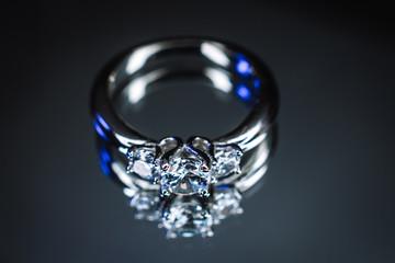 wedding ring on bokeh background