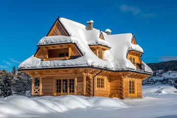Tradycyjny góralski dom z drewna