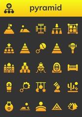 pyramid icon set