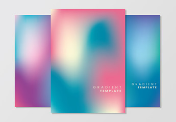 Gradient Poster Layouts Set