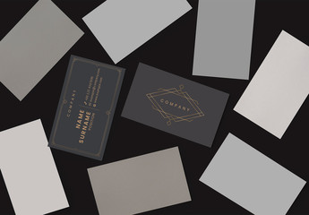 Dark Business Card Layouts