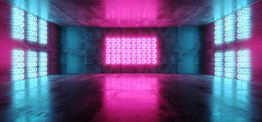 Obraz Futurystyczne Neony 3D - fototapety do salonu