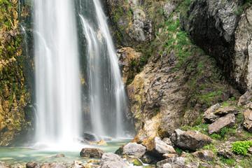 Grunas Waterfall near Theth, Albania