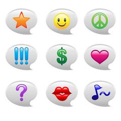 Bubble Speech Icons Illustration
