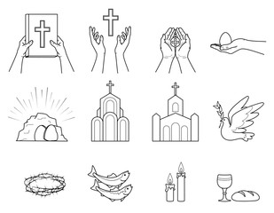 Religious Christian symbols and signs