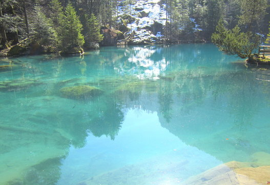 Lac bleu turquoise / azul blue lake
