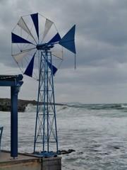 Windmühle am Strand von Milatos