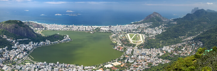 Aerial view of Rio de Janeiro, Brazil Wall mural