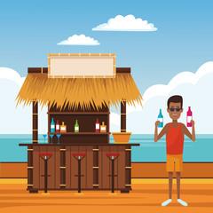 beach summer cartoon