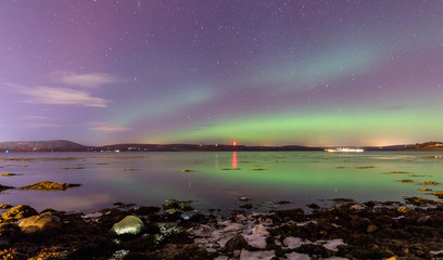 Aurora borealis (northern lights) in Scotland