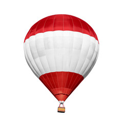 Foto auf AluDibond Ballon Bright colorful hot air balloon on white background