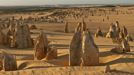 pinnacles in the desert of nambung national park, australia