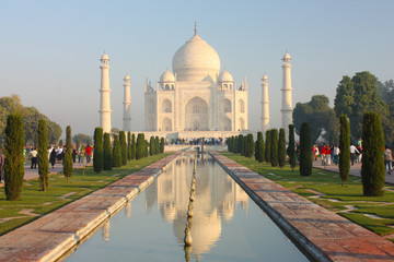 Taj mahal , A famous historical monument  on India