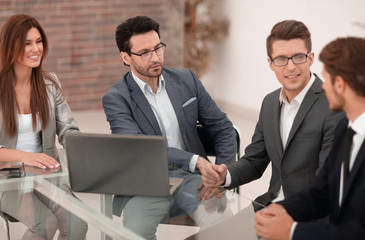 business team holds a business meeting