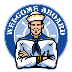 sailor badge design