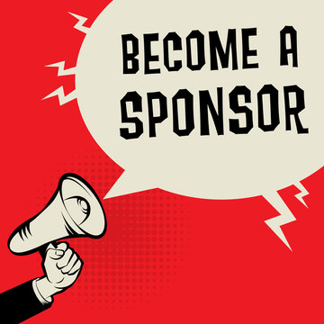 Become a Sponsor business concept