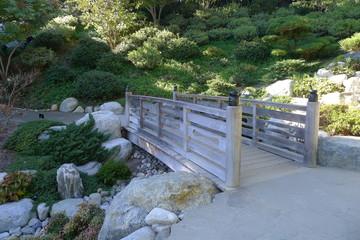 Wooden Bridge in Japanese Friendship Garden of Balboa Park