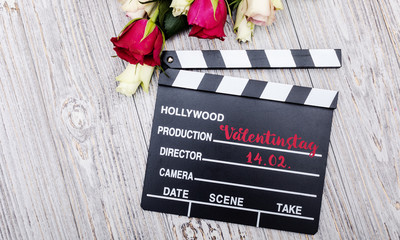 14. Februar Valentinstag Karte mit Rosen