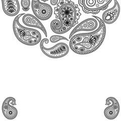 Eps Paisley  surface. Vector abstract background Illustration for your design.