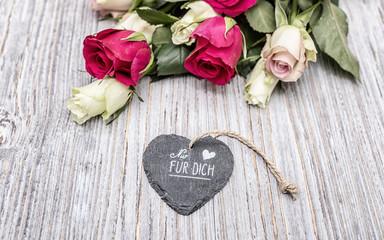 card nur für dich stil karte valentinstag
