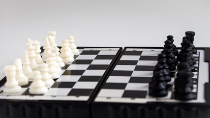 magnetic chess on the Board