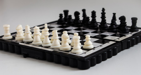 miniature chess on the Board
